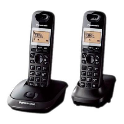 Panasonic Siyah Kx-Tg2512 Dect Telefon Çift Ahizeli Telsiz Telefon