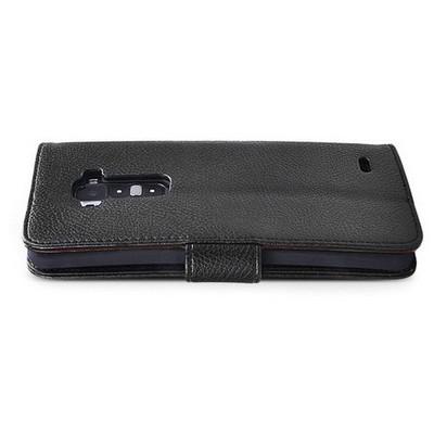 Microsonic Cüzdanlı Deri Kılıf - Lg G Flex Siyah Cep Telefonu Kılıfı