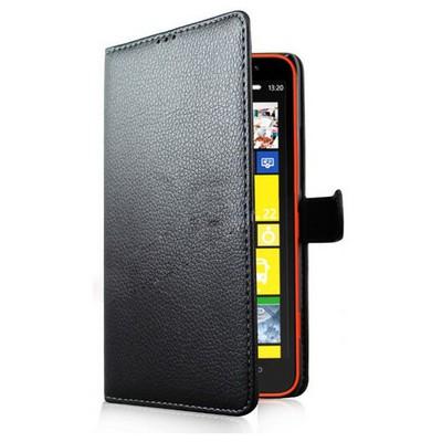 Microsonic Cüzdanlı Deri Kılıf - Nokia Lumia 1320 Siyah Cep Telefonu Kılıfı