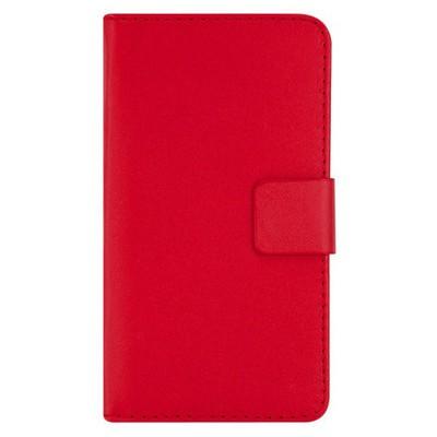 Microsonic Cüzdanlı Deri Kılıf - Motorola Moto G Kırmızı Cep Telefonu Kılıfı