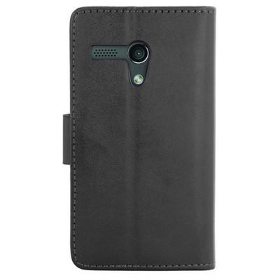 Microsonic Cüzdanlı Deri Kılıf - Motorola Moto G Siyah Cep Telefonu Kılıfı