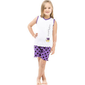 Roly Poly 2475 Askılı Kız Çocuk Pijama Takımı Beyaz 1 Yaş (86 Cm) Kız Bebek Pijaması