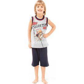 Roly Poly 2432 Askılı Kapri Erkek Çocuk Pijama Takımı Gri 1 Yaş (86 Cm) Erkek Bebek Pijaması
