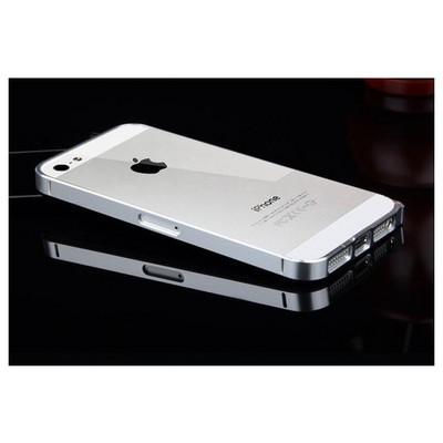 Microsonic Iphone 5 & 5s Ultra Thin Metal Bumper Kılıf Gümüş Cep Telefonu Kılıfı