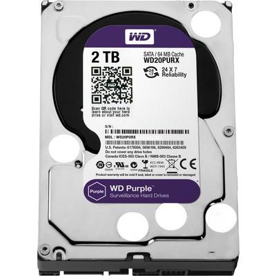 WD 2 Tb Purple 3,5 64mb Sata3 7/24 Disk Wd20purx Hard Disk