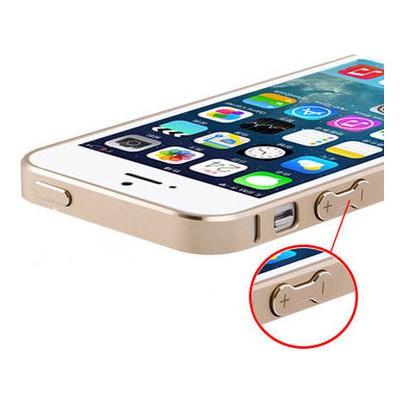 Microsonic İPHONE 5 & 5S ULTRA THİN METAL BUMPER KILIF Sarı Cep Telefonu Kılıfı