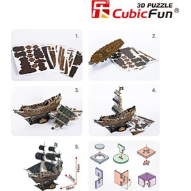 Cubic Fun 3d 155 Parça The Queen Anne's Revenge Gemi Puzzle