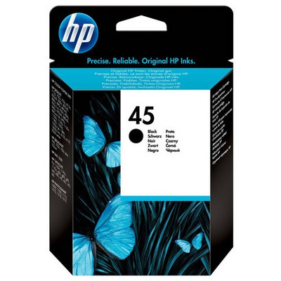 HP 51645ge (45) Siyah Mürekkep u 490 Sayfa Kartuş