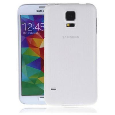 Microsonic Ultra Thin 0.2mm Kılıf Samsung Galaxy S5 Beyaz Cep Telefonu Kılıfı