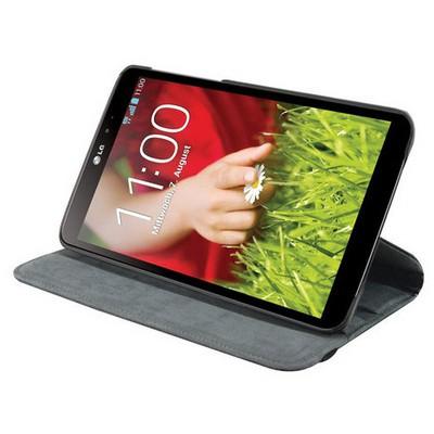 Microsonic 360 Rotating Stand Deri Kılıf Lg G Pad 8.3 V500 Siyah Tablet Kılıfı