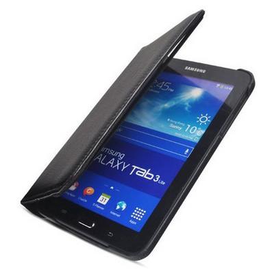 Microsonic 360 Rotating Stand Deri Kılıf Samsung Galaxy Tab 3 7.0 Lite T110 Siyah Tablet Kılıfı