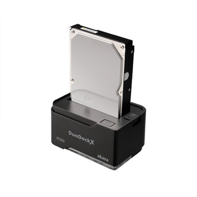 "Akasa Ak-dk03w3-bkeu Duo Dock X Wifi Ve Usb3.0 , 2.5""/3.5"" Disk Destekli Kablosuz Disk Kutusu Harici Disk Kutusu"