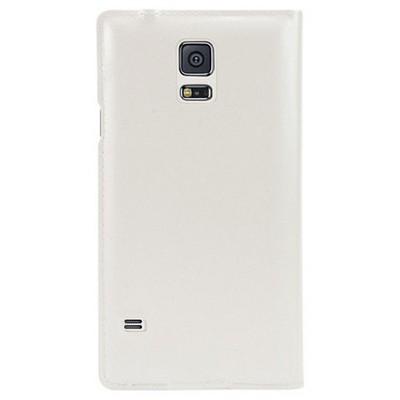 Microsonic View Cover Delux Kapaklı Kılıf Samsung Galaxy S5 Akıllı Modlu Beyaz Cep Telefonu Kılıfı