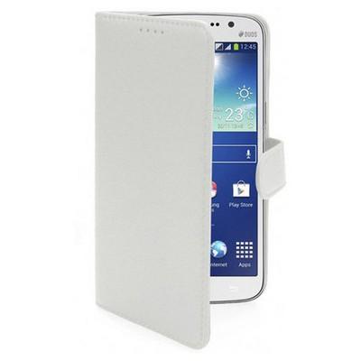 Microsonic Cüzdanlı Deri Kılıf - Samsung Galaxy Grand 2 Beyaz Cep Telefonu Kılıfı