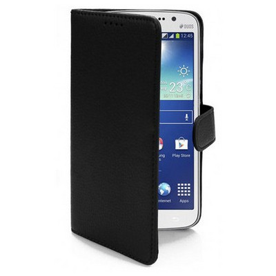Microsonic Cüzdanlı Deri Kılıf - Samsung Galaxy Grand 2 Siyah Cep Telefonu Kılıfı