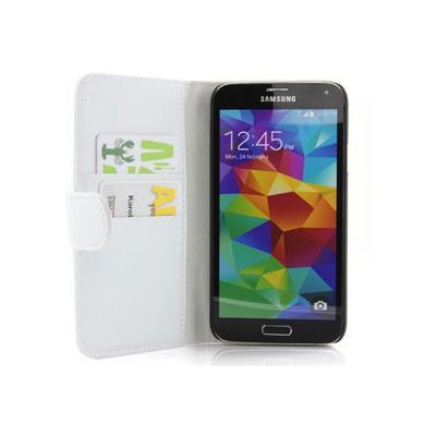 Microsonic Cüzdanlı Deri Kılıf - Samsung Galaxy S5 Beyaz Cep Telefonu Kılıfı