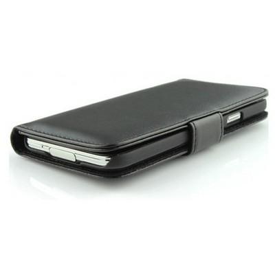 Microsonic Cüzdanlı Deri Kılıf - Samsung Galaxy S5 Siyah Cep Telefonu Kılıfı