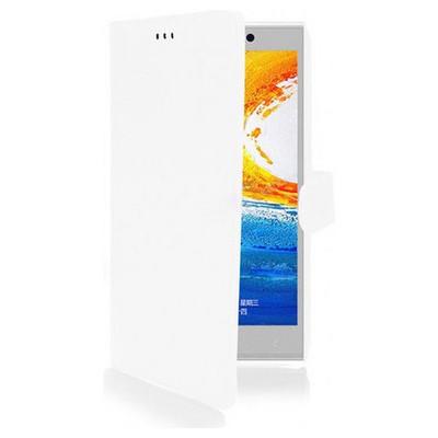 Microsonic Cüzdanlı Deri Kılıf - General Mobile Discovery Elite Beyaz Cep Telefonu Kılıfı