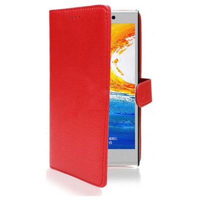 Microsonic Cüzdanlı Deri Kılıf - General Mobile Discovery Elite Kırmızı Cep Telefonu Kılıfı