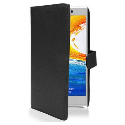 Microsonic Cüzdanlı Deri Kılıf - General Mobile Discovery Elite Siyah Cep Telefonu Kılıfı
