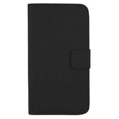 Microsonic Cüzdanlı Standlı Deri Kılıf - Samsung Galaxy S5 Siyah Cep Telefonu Kılıfı