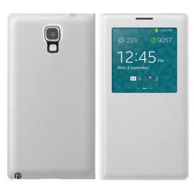 Microsonic View Cover Delux Kapaklı Kılıf Samsung Galaxy Note 3 Neo Akıllı Modlu Beyaz Cep Telefonu Kılıfı