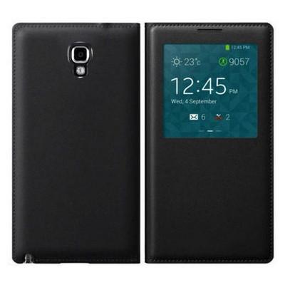 Microsonic View Cover Delux Kapaklı Kılıf Samsung Galaxy Note 3 Neo Akıllı Modlu Siyah Cep Telefonu Kılıfı