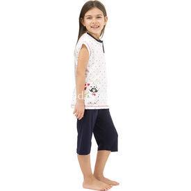Roly Poly 2470 Kapri Kız Çocuk Pijama Takımı Lacivert 1 Yaş (86 Cm) Kız Bebek Pijaması
