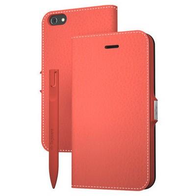 Tegware Bagel iPhone 5s note pad lı kılıf - Kırmızı Cep Telefonu Kılıfı