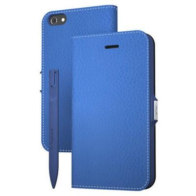 Tegware Bagel iPhone 5s note pad lı kılıf - Mavi Cep Telefonu Kılıfı