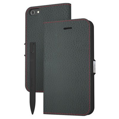 Tegware Bagel iPhone 5s note pad lı kılıf - Siyah Cep Telefonu Kılıfı