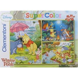 Clementoni Çocuk  Winnie The Pooh 3x48 Parça Puzzle