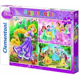 Clementoni Disney Prenses Çocuk  3 X 48 Parça Puzzle