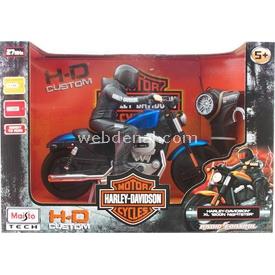 Maisto Tech H-d Xl1200 Nightster Uzaktan Kumandalı Motosiklet Mavi Arabalar