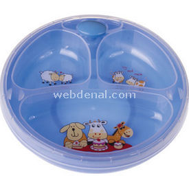 Bebedor 8558 Isıyı Koruyan Vakumlu Tabak Mavi Beslenme Gereci