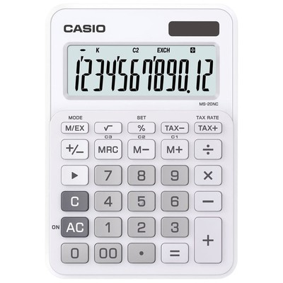 Casio 12 Haneli Masüstü Hesap Makinesi (MS-20NC-WE)