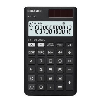 Casio Nj-120d-bk 12 Hane Işlem Kontr. Cep Hesap Makinesi