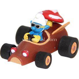 Necotoys Şirinler Şirin Çek Bırak Oyuncak Araba 6 Cm Arabalar