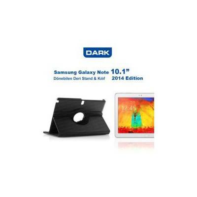 Dark Dk-ac-smkrt103n14 Samsung Galaxy Note 10.1 Uyumlu 360 Derece Stant Kılıf Siyah Renk Tablet Kılıfı