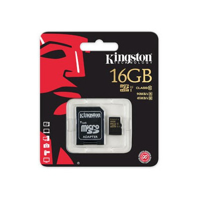 Kingston 16gb Microsdhc Class 10 Flash Card Micro SD Kart