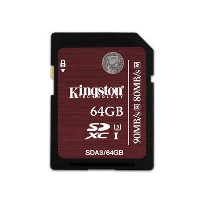 Kingston 64GB SD UHS-I CLASS 3 SDA3/64GB SDHC