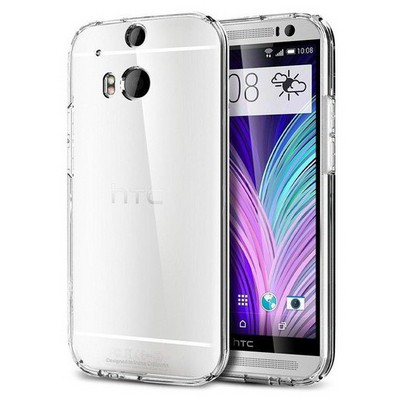 Microsonic Kristal Şeffaf Kılıf - Htc One M8 Cep Telefonu Kılıfı