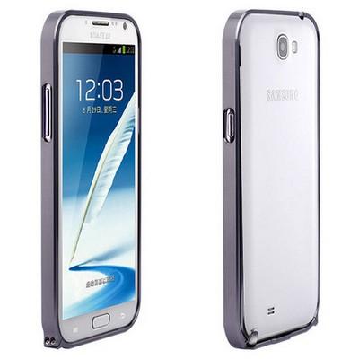 Microsonic Samsung Galaxy Note 2 Ultra Thin Metal Bumper Kılıf Siyah Cep Telefonu Kılıfı
