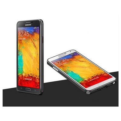 Microsonic Samsung Galaxy Note 3 Ultra Thin Metal Bumper Kılıf Siyah Cep Telefonu Kılıfı