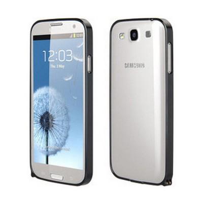 Microsonic Samsung Galaxy S3 Ultra Thin Metal Bumper Kılıf Siyah Cep Telefonu Kılıfı
