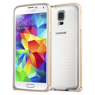 Microsonic Samsung Galaxy S5 Ultra Thin Metal Bumper Kılıf Sarı Cep Telefonu Kılıfı
