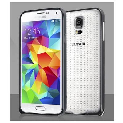 Microsonic Samsung Galaxy S5 Ultra Thin Metal Bumper Kılıf Siyah Cep Telefonu Kılıfı
