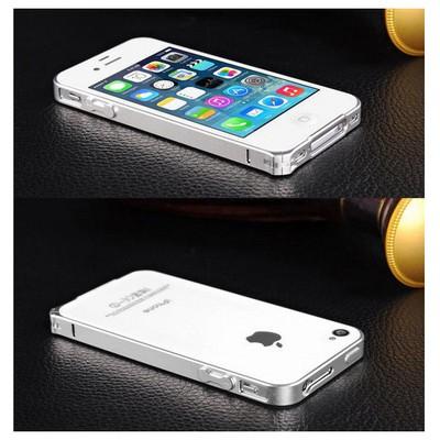 Microsonic Iphone 4 & 4s Ultra Thin Metal Bumper Kılıf Gümüş Cep Telefonu Kılıfı