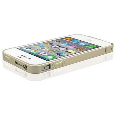 Microsonic Iphone 4 & 4s Ultra Thin Metal Bumper Kılıf Sarı Cep Telefonu Kılıfı