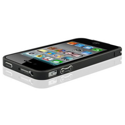 Microsonic Iphone 4 & 4s Ultra Thin Metal Bumper Kılıf Siyah Cep Telefonu Kılıfı
